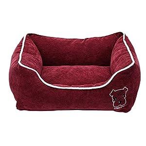 Hundebett Hundekorb Weich Warm Corduroy Und Waschbar Abnehmbar Wasserdicht Feuchtigkeitsfest Unten Für Groß, Mittel Und Klein Hund,B,XL