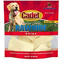 IMS Trading 10060-16 Natural Rawhide Chips for Dogs, 1-Pound by IMS Trading