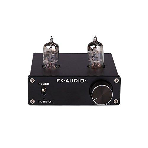 Cewaal DC12V 30W Mini 6J1 Válvula y vacío Tube Stereo Audio HiFi Buffer Amplificador AMP