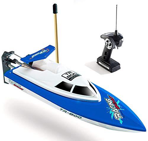 Top Race Fernbedienung Wasser Speedboot, perfektes Spielzeug für Pools und Seen Red 49 MHz. TR-800