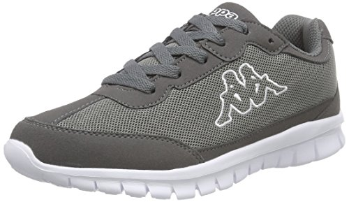 KappaROCKET Footwear unisex, Mesh/Synthetic - Scarpe da Ginnastica Basse Unisex - Adulto , Grigio (Grau (1310 anthra/white)), 43