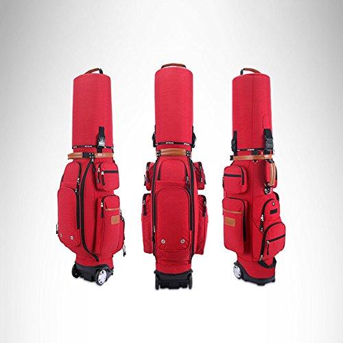 PGM Gepolsterte Travel Cover Bag mit Rollen mit Codeschloss --- gratis Senden eine Regen, rot