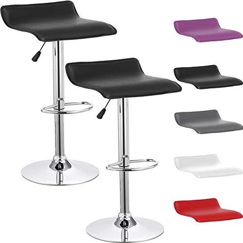 Beltom 2 sgabelli da bar e cucina con penisola regolabili in altezza sedia girevole per pizzerie pub ristoranti hotel soggiorno ufficio - modello wave - x2-nero