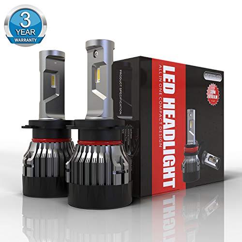 Lampadine H7 LED 10000LM, Fari Abbaglianti o Fendinebbia per Auto, Kit Lampada Sostituzione per Alogena Lampade e Xenon Luci, 6500K Bianco,12V, 3 Anni Di Garanz