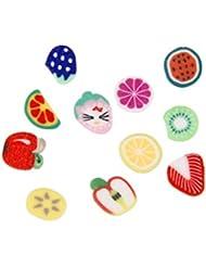 Gazechimp Lot de 1000pcs Fruits Assortis Nail Art 3D Décorations en Pâte Polymère