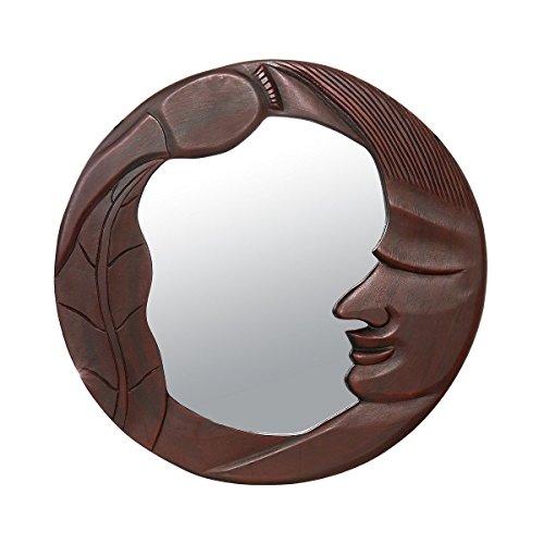 Discount Etnico - Specchio Legno Luna Grande Misura 62 x 61 cm.1TL0838