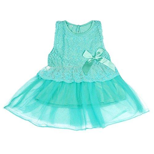 Lace Tights Bogen Muster (Baby Mädchen Kleid,Amlaiworld Baby Mädchen Kleinkind Prinzessin Festzug Partei Tutu Blumenblumenkleid (1, Grün ))