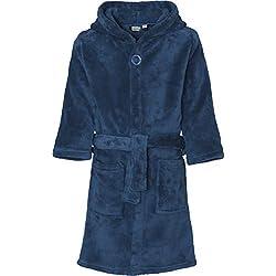 Playshoes Fleece-Bademantel uni Peignoir, Bleu (Marine 11), 152 (Taille Fabricant: 146/152) Garçon