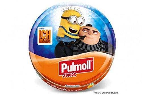 Pulmoll Junior - Minions Gru Pulmoll Husten-Pirat Junior Orange + Vitamine ACE zuckerfrei mit Steviolglycosiden, 50 g (Galaxy-fußball-hemd)