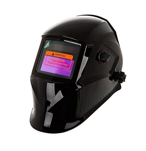 Elektrische Schweißhelm Automatische Abdunkelung Solar Powered Welders Schweißhelm Maske, (Schwarzer Lincoln Hat)