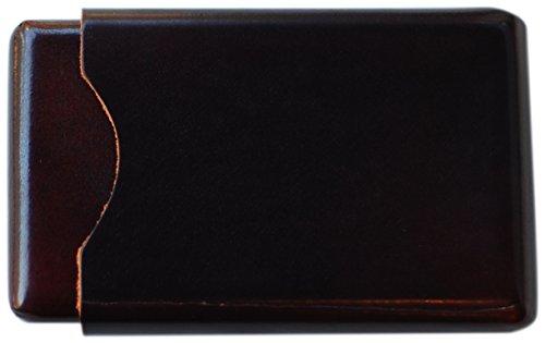 IL BUSSETTO FIRENZE Etui für Visitenkarten/Kreditkarten, Leder, Kunsthandwerk Braun Testa Di Moro