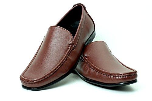 hommes décontracté Mode Mocassins À Enfiler élégant Conduite Chaussures Noires,Brun ou bleu marine Moccasin tailles UK Marron