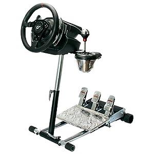 Wheel Stand Pro Deluxe V2 Halterung, schwarz, Für Saitek Pro Flight Yoke System