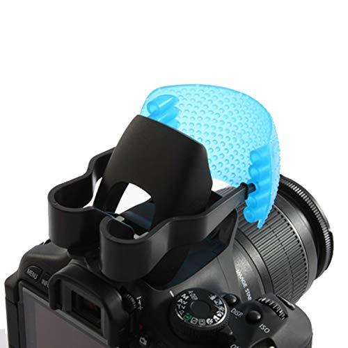 3 Farbe Gute Qualität Pop-Up Blitz Diffusor Abdeckung für Canon für Nikon (Farbe: blau & weiß & orange)