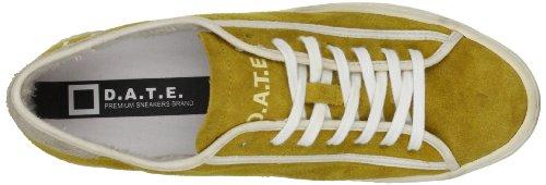 D.A.T.E. Donna Sneakers, E13A-TL-SE-YE, TENDER LOW SUEDE SAND RETRO Giallo