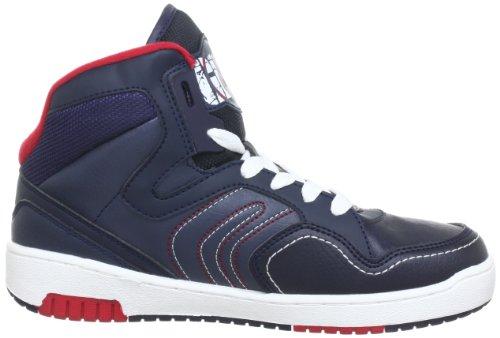 Geox J Oracle B, Baskets mode garçon Bleu (Navy/Red)