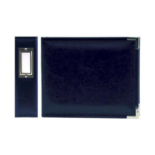 Classic Leder-15,2x 15,2cm Ring Album, Marineblau ()