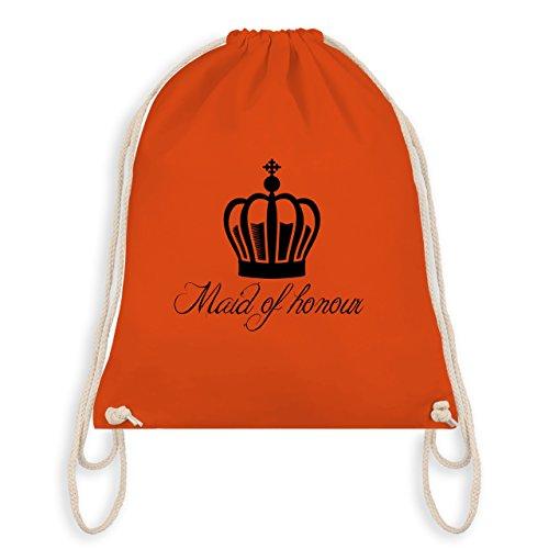 JGA Junggesellinnenabschied - Maid of honour Krone - Turnbeutel I Gym Bag Orange