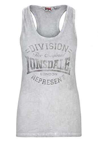 Lonsdale Damen Tanktop Holywell, Farbe:dark grey;Größe:M