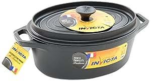 Invicta 30331 Noir Cocotte en Fonte Émaillée 31 cm