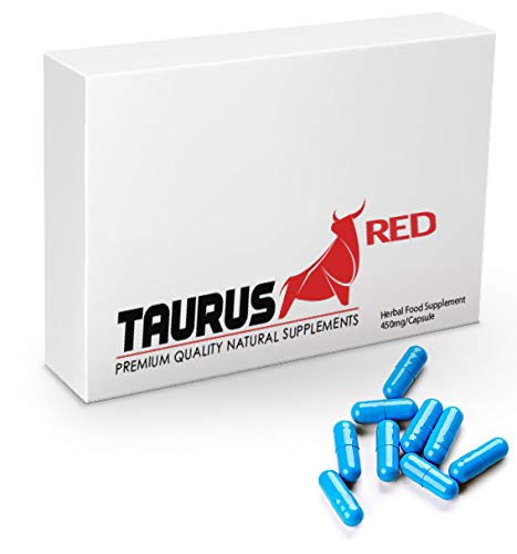 Ultra Strong Taurus Red - (10 Capsule Pack) New & Effective 450mg Ginseng  Complex Herbal Supplement for Men - Performance, Energy, Stamina &
