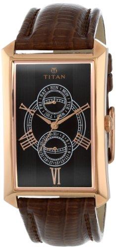 41bsbH0KylL - Titan NE1490WL01 Classique Brown Mens watch