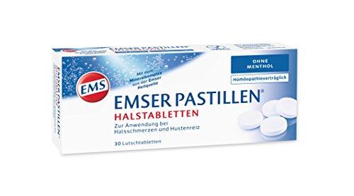 Halsschmerzen Schleim (Emser Pastillen Halstabletten ohne Menthol - Bei Halsschmerzen, Husten und starker Stimmbelastung - 30 Stück)