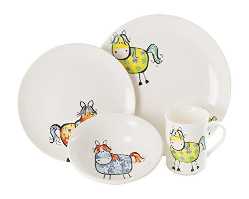 La Cija Matti cavalli-Set da tavola, in porcellana, rinforzata, colore  (VJ0)