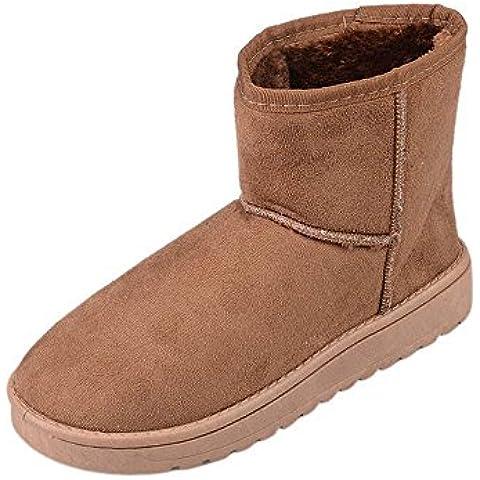 SHIXR Breve peluche nuovo camoscio ladies doposci stivali invernali , dark brown , 40