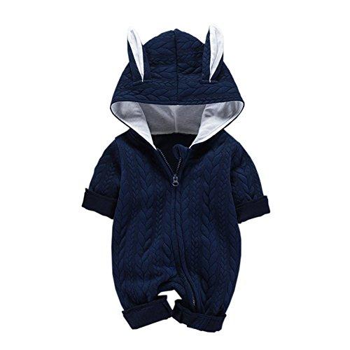 (fairy baby Fee-Baby-Jungen-Mädchen-Mantel-Säuglingsoverall-Kleinkind-Lange Hülsen-Bodysuit-Neugeborene Hoodies Size 90 (Navy))