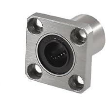 SODIAL(R) Cojinete lineal largo con brida cuadrado bujes 12 mm x 21 mm x 30 mm