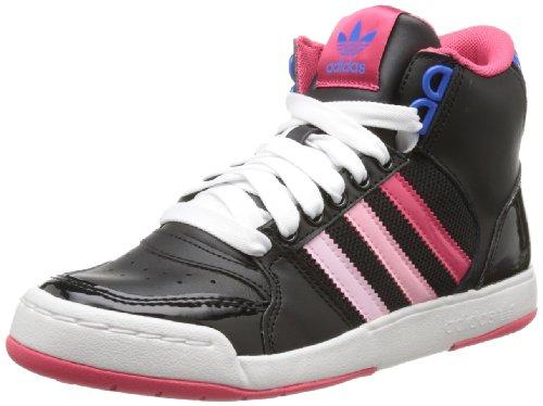 adidas Originals Midiru Court Mid 2.0 W, Baskets mode femme, Noir (Black/Pink/Bluebird), 42 2/3 EU