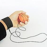 Sundatebe Bouncy Wrist Band Rubber Ball Elastic String Rebound Finger Exercise Sport Toy