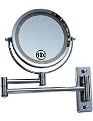 LED Licht Doppel Schminkspiegel Make up Spiegel Kosmetikspiegel Beleuchtet 10-fach 405261