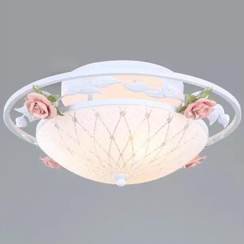 DELLT Garten Blumen Eisen Deckenleuchte Wohnzimmer Lampe Schlafzimmer Restaurant Amazonde Beleuchtung