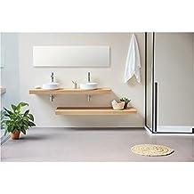 Amazonfr Meuble Salle Bain Double Vasque Suspendu - Vasque suspendue salle de bain