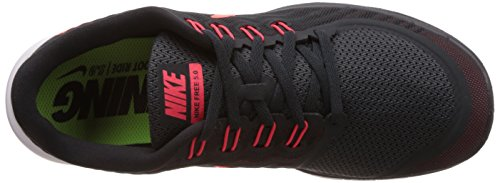 Nike Free 5.0, Chaussures de Sport Homme Gris (Anthracite/Bright Crimson/University Red)