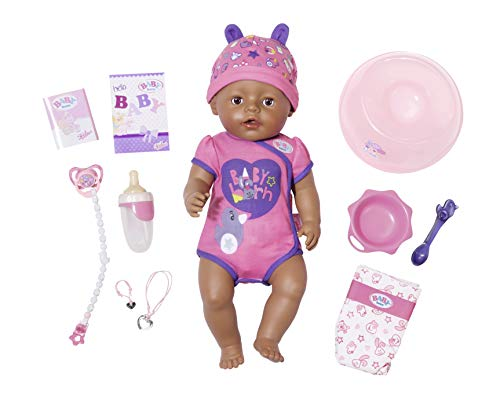 Zapf Baby Born Soft Touch Girl Brown Eyes Muñeca - Muñecas (Multicolor, Femenino, Chica, 3 Año(s), 430 mm, 330 mm)