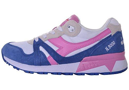 Diadora Unisex Adulto N9000 Iii Sneaker Collo Basso, Blu Blu (blu Principessa / Fucsia Rosa)