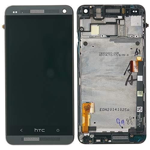 Original HTC ONE M7 Displaymodul LCD Touchscreen inkl. Frontcover Kabel Leitung Gehäuse schwarz