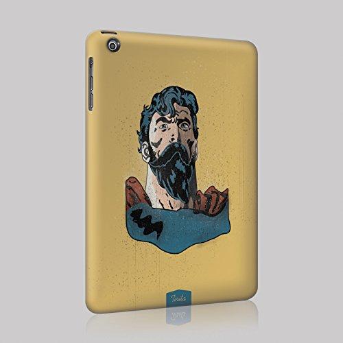 Tirita - Carcasa rígida para iPad (plástico), diseño de Barba de superhéroe