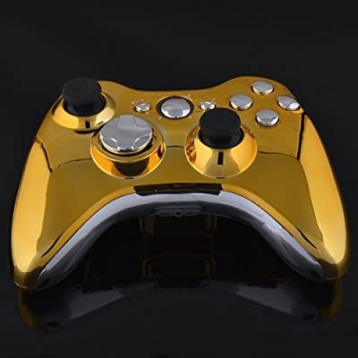Xbox 360 Wireless Controller - Chrome Gold with Chrome Buttons