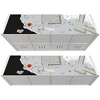 Stikkipix Nave Especial Cascarillo para muebles | KSWL14 | Adhesivos adecuados para el estante KALLAX de