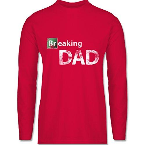 Shirtracer Vatertag - Breaking Dad - Herren Langarmshirt Rot