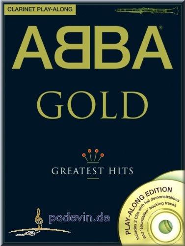 Preisvergleich Produktbild ABBA GOLD - Greatest Hits - Clarinet Play-Along - Klarinette Noten [Musiknoten]