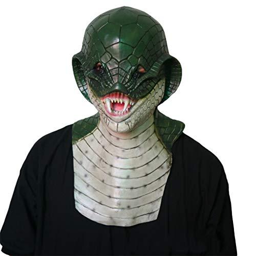 ex Kopf Maske, Horror Dämon Monster Schlange Maskerade Horror Zombie Ghost Creepy Kostüm Kostüm ()