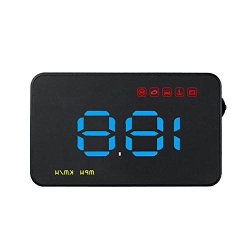 VORCOOL Affichage Tête Haute Voiture Projecteur numérique avec l'avertissement fatigue de excès de vitesse (bleu)