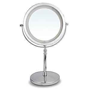 10x Magnifying Mirror With Light Double Sided Led