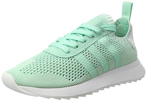 adidas Damen Flashback Primeknit Sneaker Türkis Easy Green/Footwear White, 39 1/3 EU