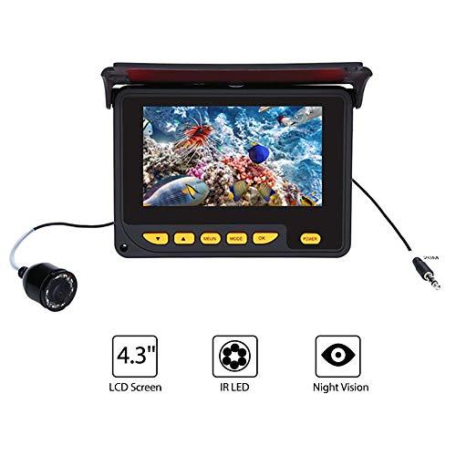 """QLPP 4.3""""Inch 1000tvl Unterwasserfischerei Video Camera Kit 10 PCS LED Infrared Lampen Videofilme mit 4000mAh Lithium-Akku für EIS, See und Boot Fischen,30meters,withoutvideo"""